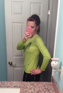 12 Weeks Postpartum, race day! Almost back to pre-pregnancy weight!